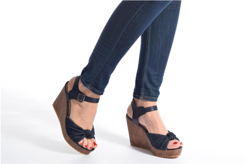 Sandales et nu-pieds S.Oliver Pawel Bleu vue bas / vue portée sac