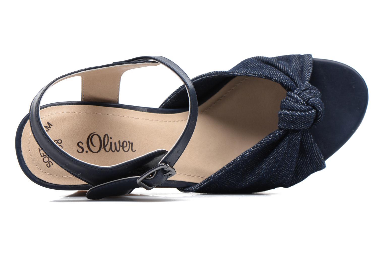 Sandales et nu-pieds S.Oliver Pawel Bleu vue gauche