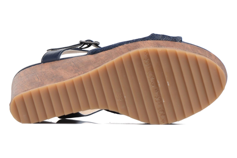 Sandales et nu-pieds S.Oliver Pawel Bleu vue haut