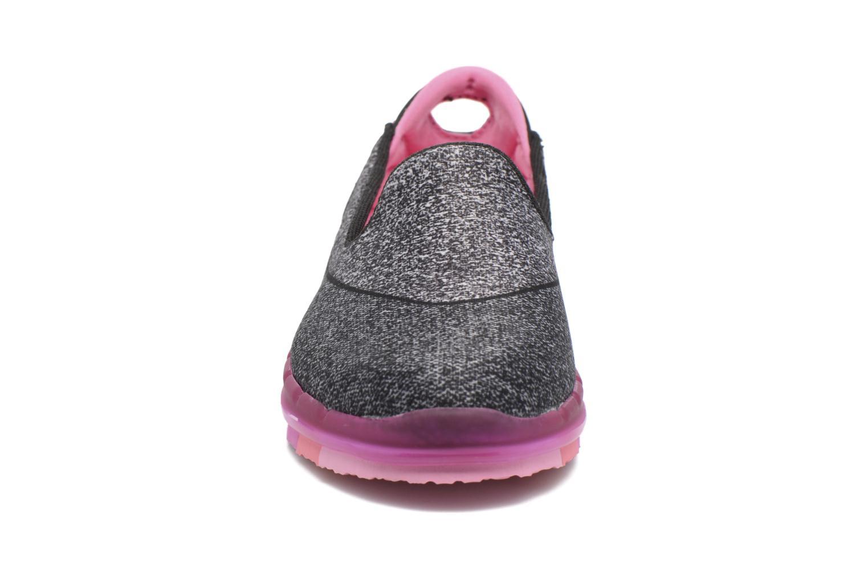 Black/hot pink Skechers Go Flex (Noir)