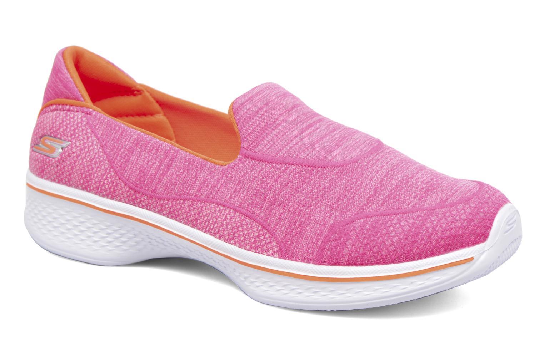 Néon Pink/Orange Skechers Go Walk 4 Speedy Sports (Rose)