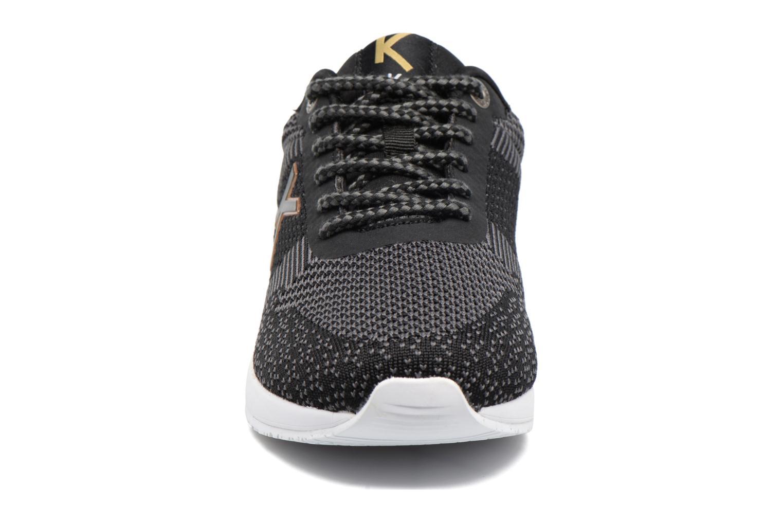 Baskets Kickers Knitwear Kids Noir vue portées chaussures
