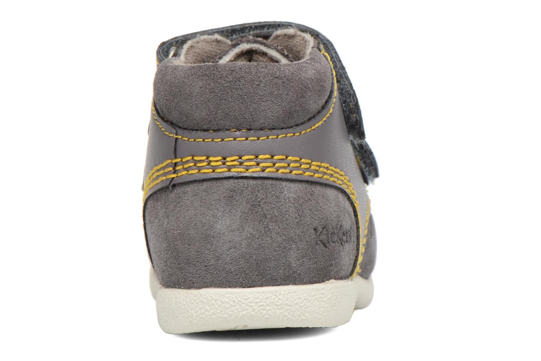 Chaussures à scratch Kickers Friendly Gris vue droite