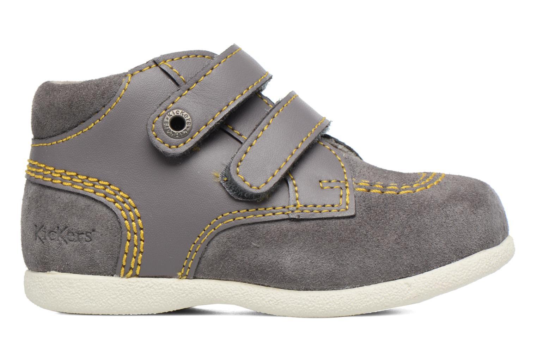 Chaussures à scratch Kickers Friendly Gris vue derrière