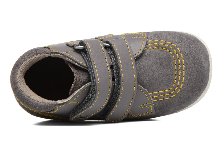 Chaussures à scratch Kickers Friendly Gris vue gauche