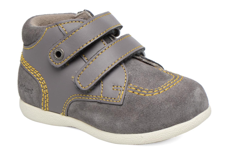 Chaussures à scratch Kickers Friendly Gris vue détail/paire