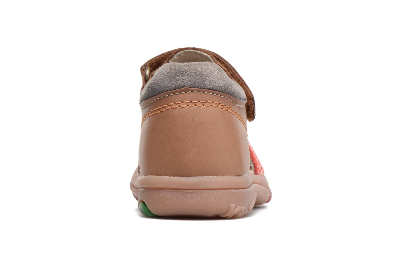 Sandalen Kickers Platiback beige ansicht von rechts