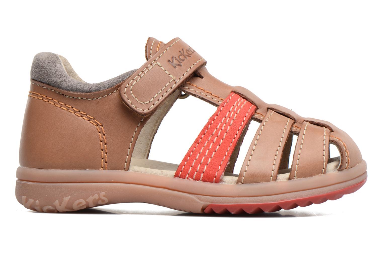 Sandalen Kickers Platiback beige ansicht von hinten