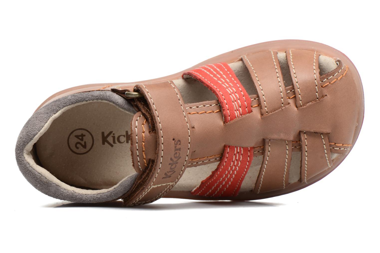 Sandalen Kickers Platiback beige ansicht von links