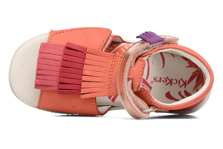 Sandalen Kickers Bihilana rosa ansicht von links