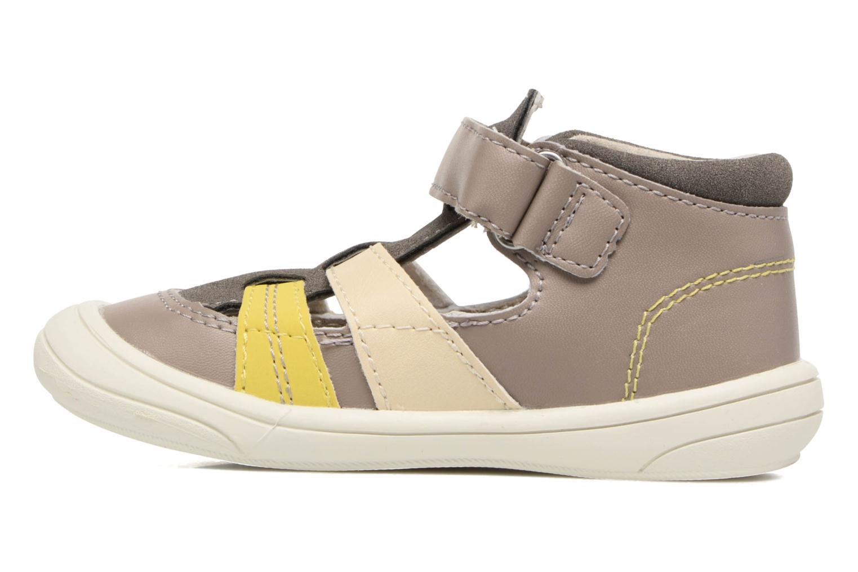 Sandales et nu-pieds Kickers Zohan Gris vue face