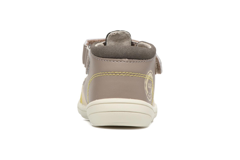 Sandales et nu-pieds Kickers Zohan Gris vue droite
