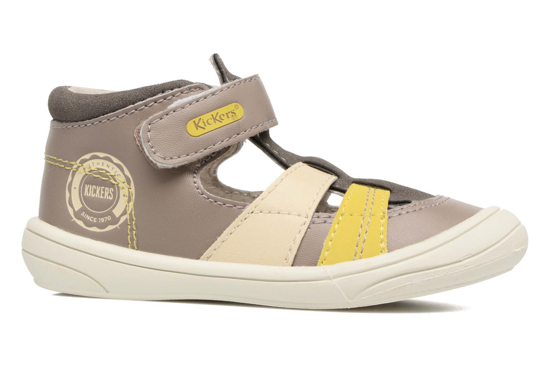 Sandales et nu-pieds Kickers Zohan Gris vue derrière