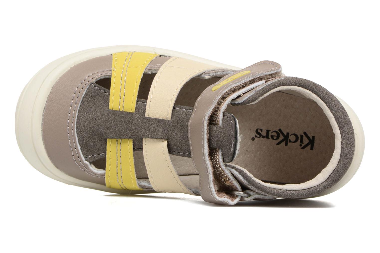 Sandalen Kickers Zohan grau ansicht von links
