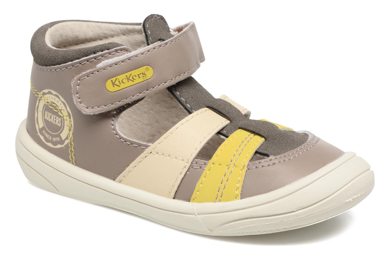 Sandales et nu-pieds Kickers Zohan Gris vue détail/paire