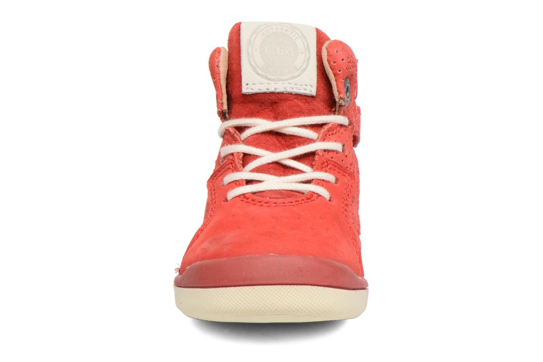 Baskets Kickers Goodjob Rouge vue portées chaussures