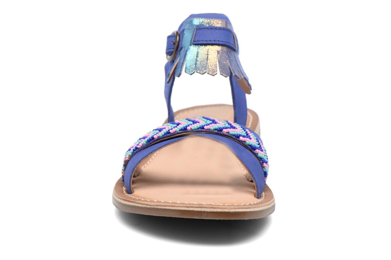 Sandales et nu-pieds Kickers Dixie Bleu vue portées chaussures