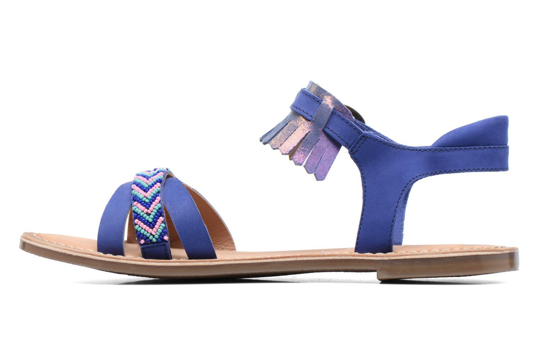 Sandales et nu-pieds Kickers Dixie Bleu vue face