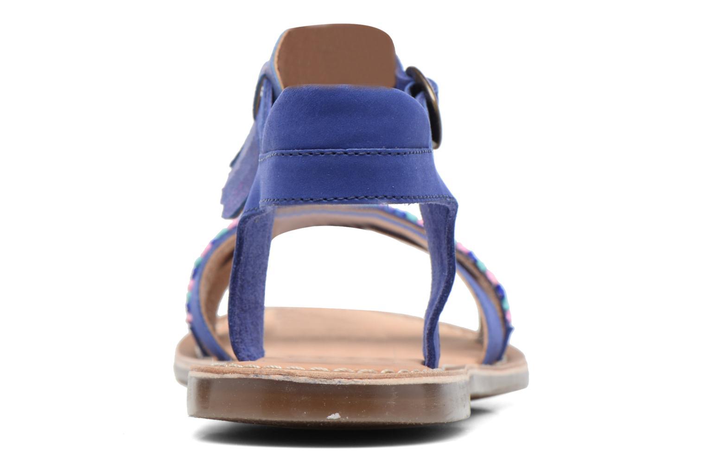 Sandales et nu-pieds Kickers Dixie Bleu vue droite