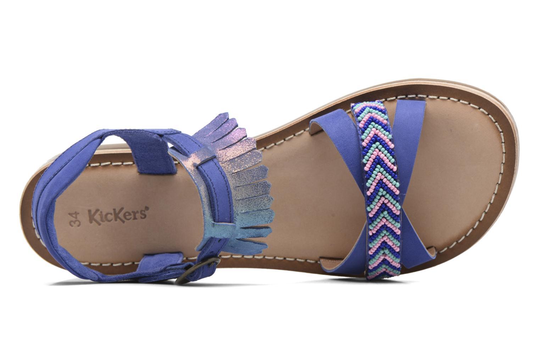 Sandales et nu-pieds Kickers Dixie Bleu vue gauche