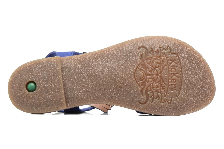 Sandales et nu-pieds Kickers Dixie Bleu vue haut