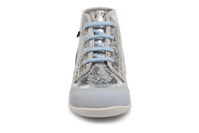 Scarpe con lacci Kickers Boetik Azzurro modello indossato
