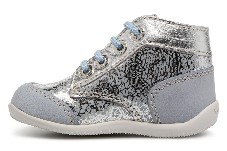 Chaussures à lacets Kickers Boetik Bleu vue face