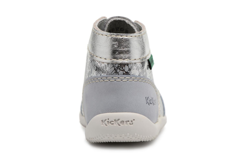 Zapatos con cordones Kickers Boetik Azul vista lateral derecha