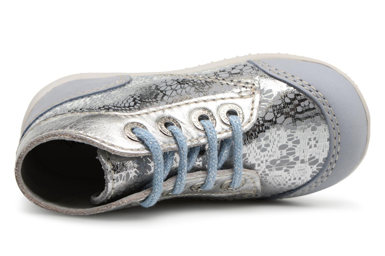 Zapatos con cordones Kickers Boetik Azul vista lateral izquierda
