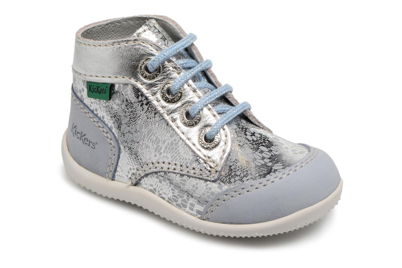 Chaussures à lacets Kickers Boetik Bleu vue détail/paire