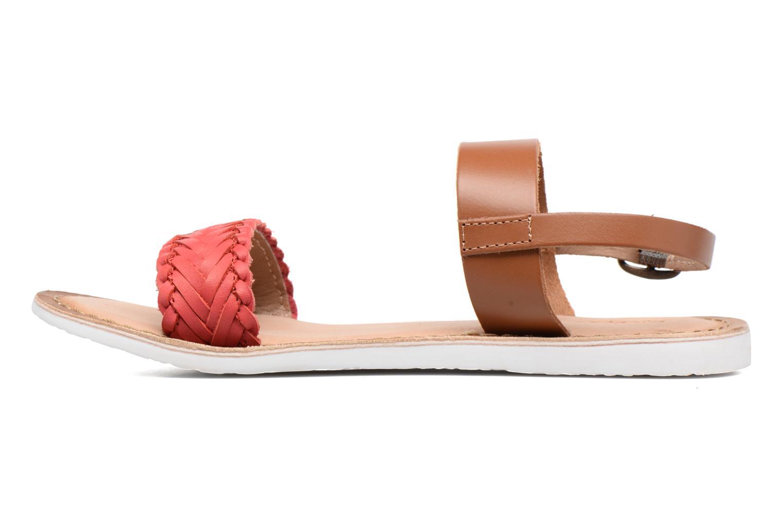 Sandales et nu-pieds Kickers Sporia Rose vue face