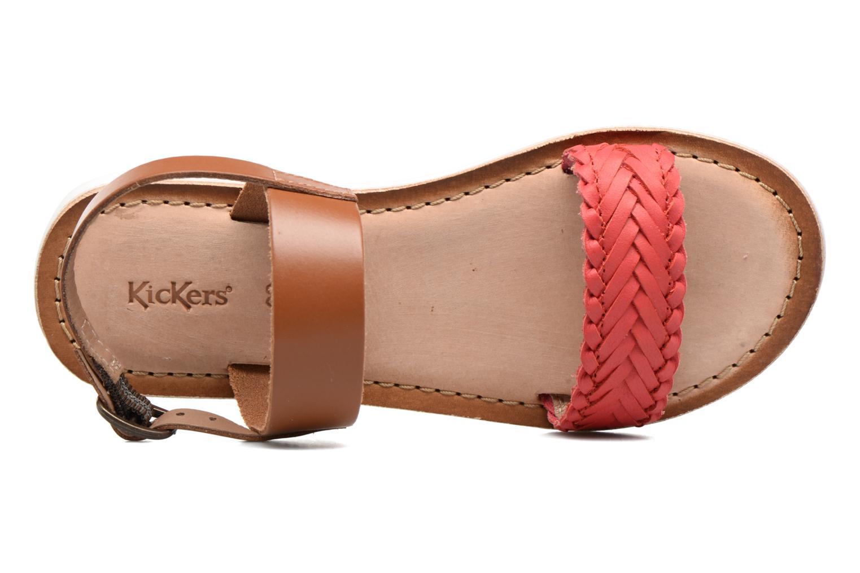 Sandales et nu-pieds Kickers Sporia Rose vue gauche