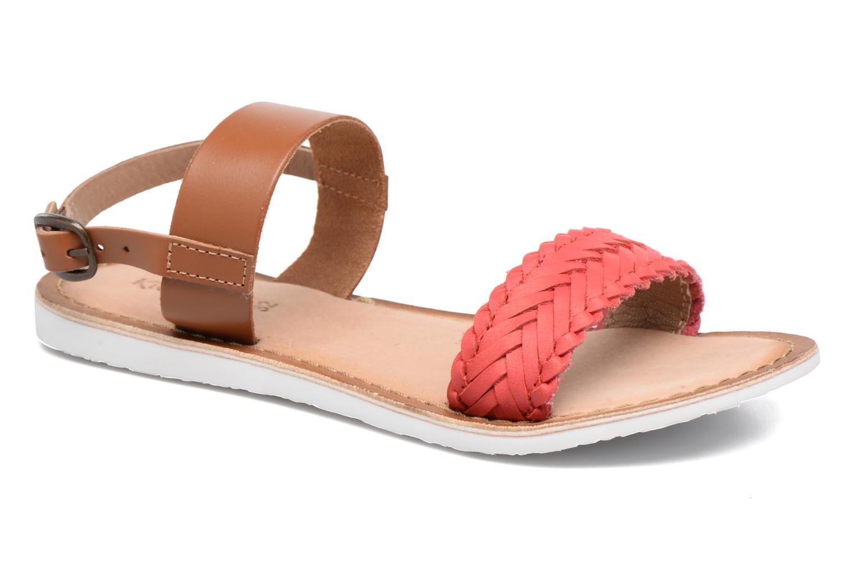 Sandales et nu-pieds Kickers Sporia Rose vue détail/paire