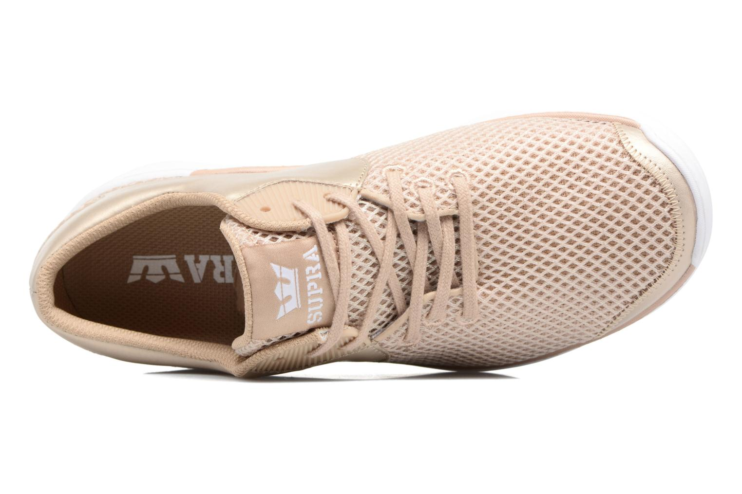Baskets Supra Women's noize Or et bronze vue gauche