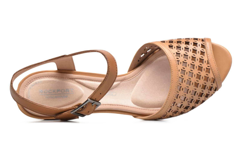 Sandales et nu-pieds Rockport Audrina Laser 2 Piece Marron vue gauche