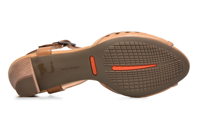Sandales et nu-pieds Rockport Audrina Laser 2 Piece Marron vue haut