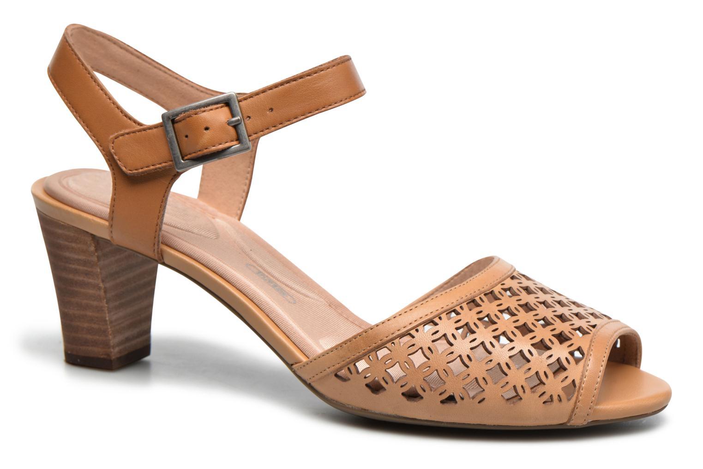 Sandales et nu-pieds Rockport Audrina Laser 2 Piece Marron vue détail/paire