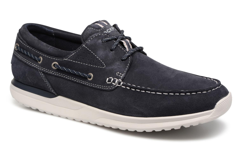 Chaussures à lacets Rockport Langdon 3 Eye Ox Bleu vue détail/paire