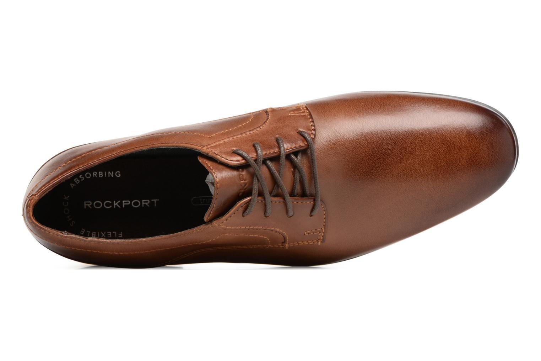 Chaussures à lacets Rockport Sc Plain Toe Marron vue gauche