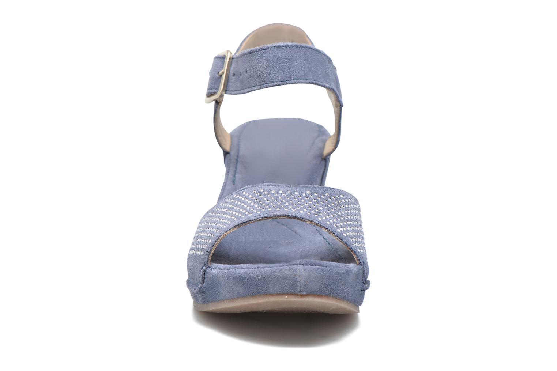 Sandales et nu-pieds Khrio Maddie Bleu vue portées chaussures