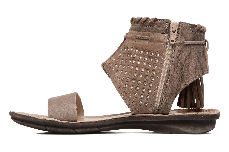 Sandali e scarpe aperte Khrio Nora Marrone immagine frontale