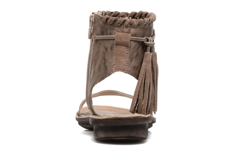 Sandales et nu-pieds Khrio Nora Marron vue droite