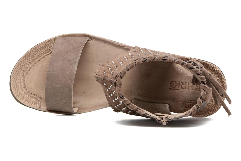 Sandales et nu-pieds Khrio Nora Marron vue gauche