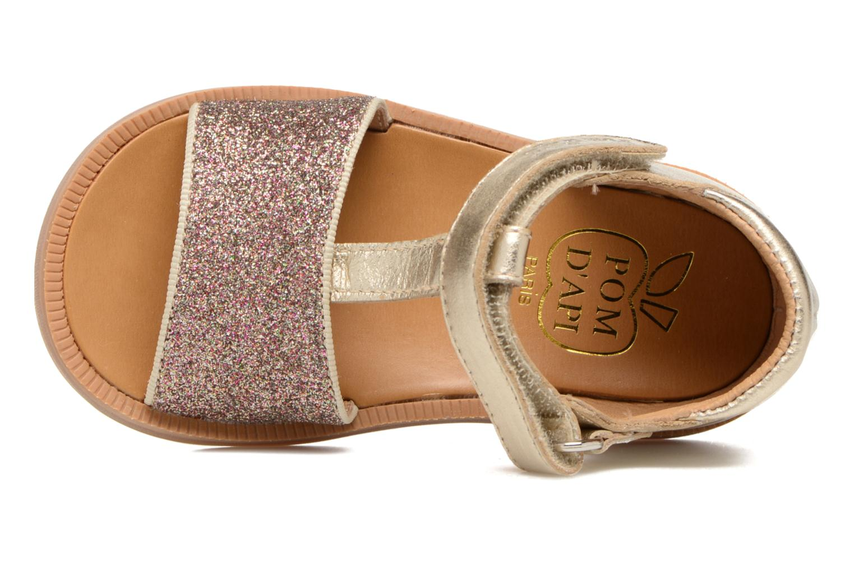 Sandales et nu-pieds Pom d Api Poppy Tao Easy Or et bronze vue gauche