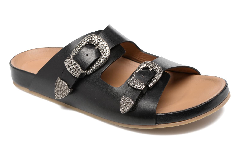 Sandales et nu-pieds Sonia Rykiel Flat Rykiel Buckle Noir vue détail/paire