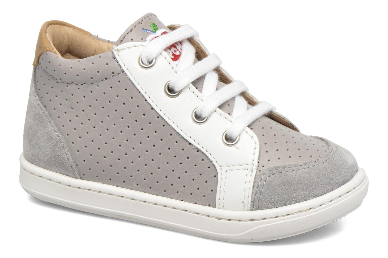 Baskets Shoo Pom Bouba Zip Box Gris vue détail/paire