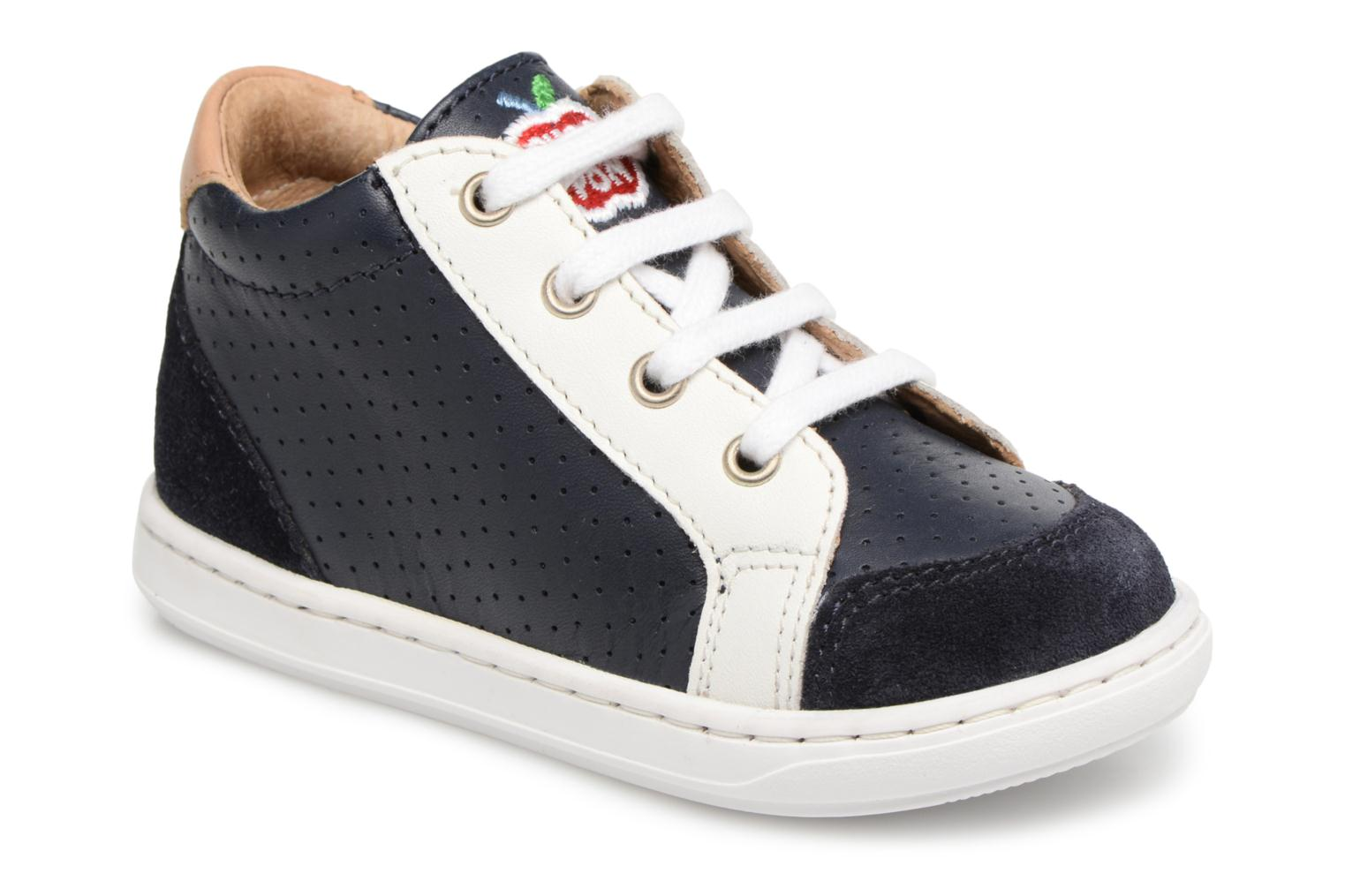 Navy/white Shoo Pom Bouba Zip Box (Bleu)