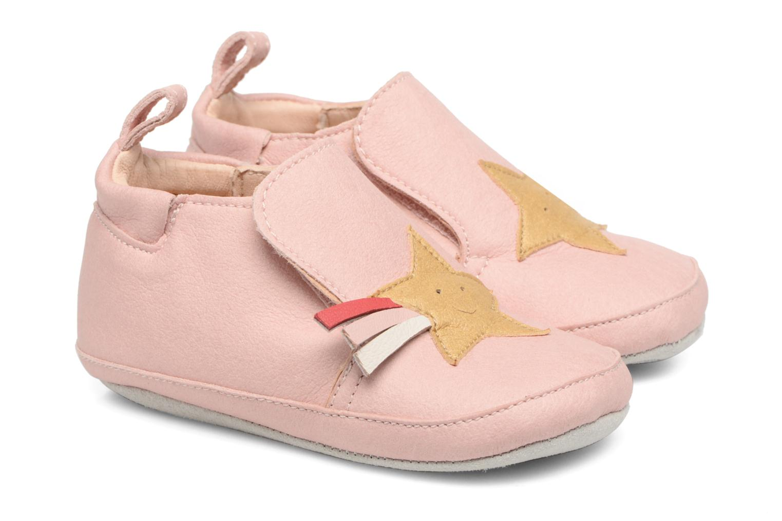 Chaussons Shoo Pom chou Star Rose vue détail/paire