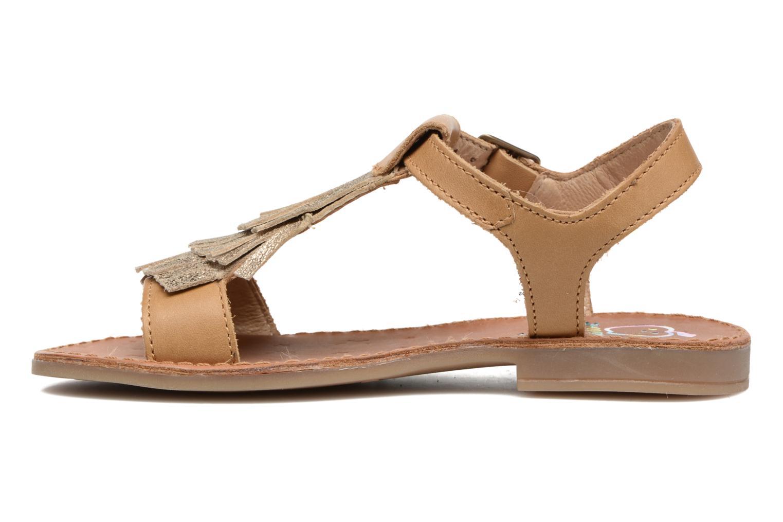 Sandales et nu-pieds Shoo Pom Happy Fringe Marron vue face