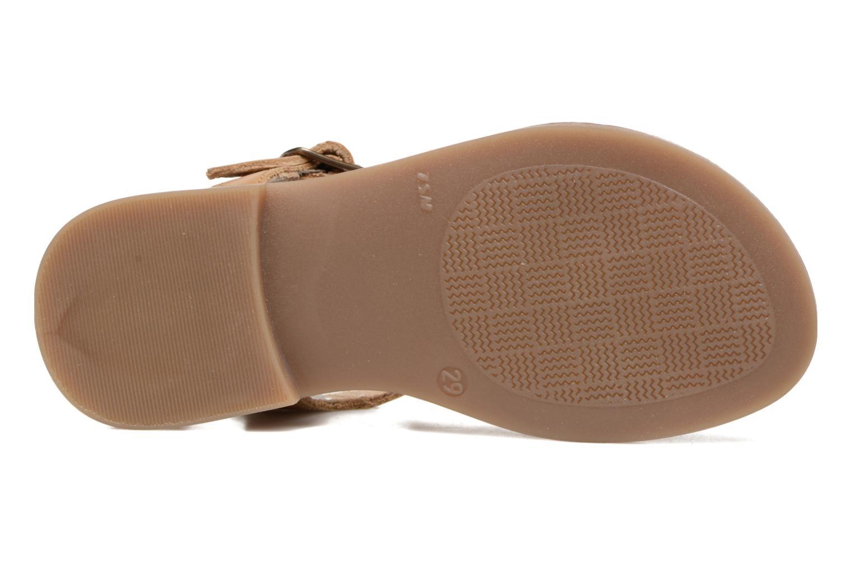 Sandales et nu-pieds Shoo Pom Happy Fringe Marron vue haut